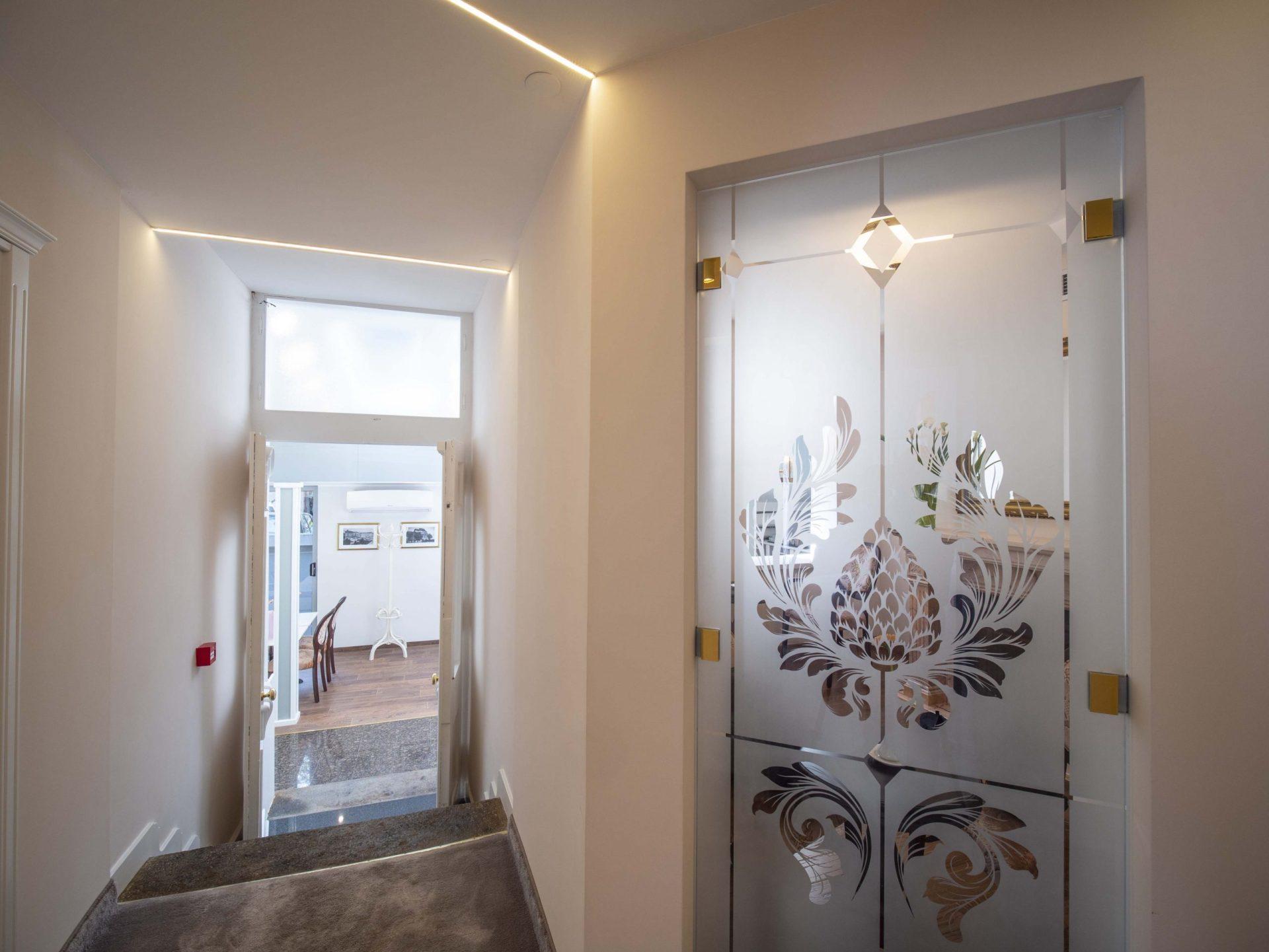 First Floor Side Hallway